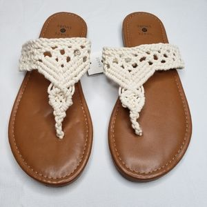 Fia Crochet Flip Flop Sandals - Shade and Shore